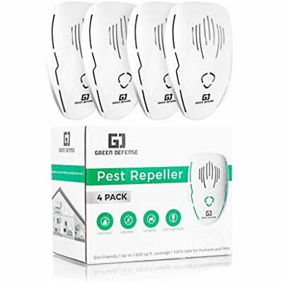 Ultrasonic Repellents Pest Plug In 4 Pack Roach, Spider, Bed Bugs, Ants, Rodent,