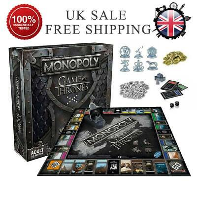 For Monopoly The Game of Thrones Board Game Party Adult Funny Cards Game Hot UK