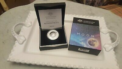 2019 Australia Domed The Earth And Beyond The Moon 1 oz Silver Proof Coin W//OMP