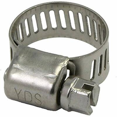 All Pipe Clamps 300 Grade Stainless Steel Mini Hose Clamp, Worm Drive, SAE Size