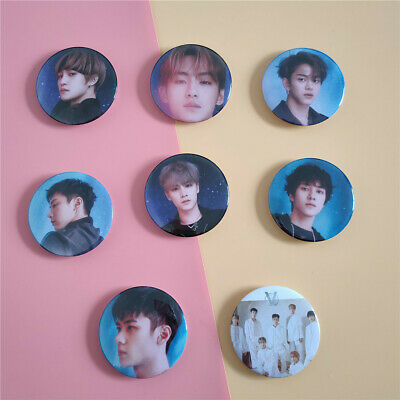 NCT 威神V WayV Take Over The Moon 2nd Album Photo Button Brooch Pin Fan Goods 2019