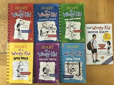 Diary of a Wimpy Kid Books 1 to 6 Collection Plus Movie Diary
