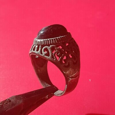 rare extremely ancient ring VIKING metal silver color artifact amazing