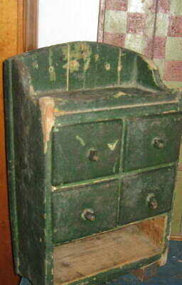 Excellent Antique Spice Chest, Apothecary Chest Awesome Form, Old Paint Aafa Nr