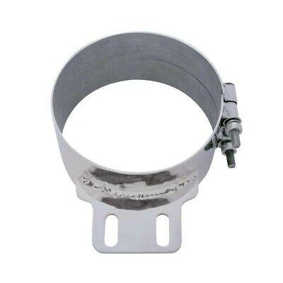 "Stainless Steel 7"" Butt Joint Exhaust Clamp W/ Straight Bracket"
