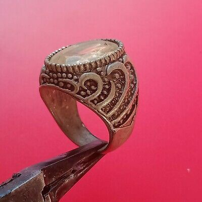 rare extremely ancient Legionary ring VIKING metal silver color artifact amazing