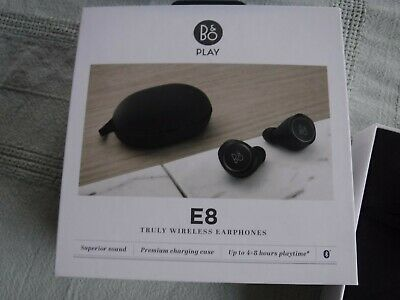 BANG & OLUFSEN B&O PLAY E8 Truly Wireless Earphones Headphone - Black NEW BNIB