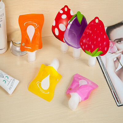 Empty Travel Cosmetic Bottle Lotion Shampoo Mini Makeup Container Fruit Shape DB