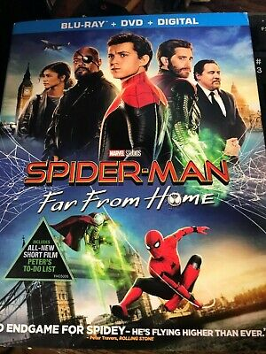 NEW / SEALED Spider-Man Far From Home BLU-RAY + DVD + DIGITAL