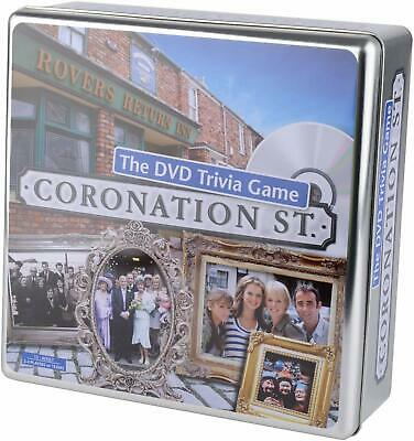 CORONATION ST THE DVD TRIVIA GAME IN TIN CASE sealed new