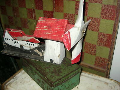 Charming Old Windmill Whirligig Great Color, Form Nice Detail, Paint  Aafa Nr