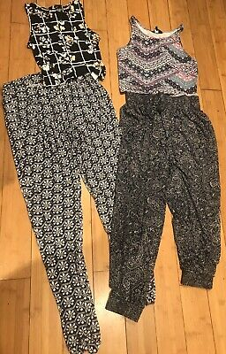 Girls Clothes Bundle Age 12-13 Years, Harem Trousers & Cropped Tops
