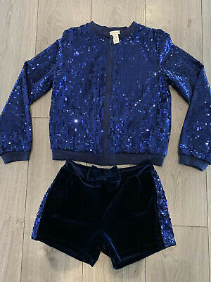 Girls Christmas Party Outfit. Top & Shorts Age 11-12 Sparkle.