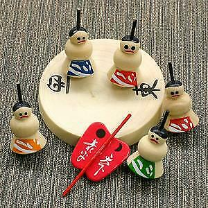 "Kokeshi Doll Spinning Top ""Sumo wrestlers"" decoration crafts wooden toy japan"