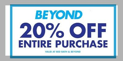 SPECIAL Bed Bath & Beyond Coupon 20% Off Entire Purchase Exp 12/31/2019