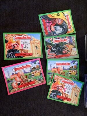 2019 Topps On Demand Garbage Pail Kids NYCC Takeover 6 card green & pink lot