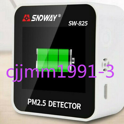 1PC SNDWAY SW-825 PM 2.5 Detector and Temperature/Humidity meter screen display
