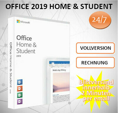 Office 2016/2019 ☆ Home & Student ☆ H&S ☆ 2min E-Mail Versand