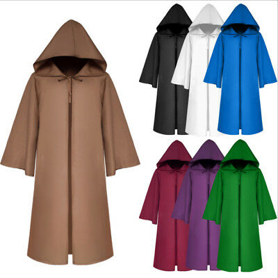 UK Adult/Kid Cloak Cape Hood Medieval Costume Party Witch Wicca Vampire Gifts