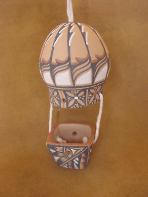 Jemez Pueblo Handmade Clay Hot Air Balloon by B.J. Toya