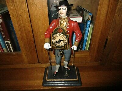 black forest  peddler man clock with pendulum and key