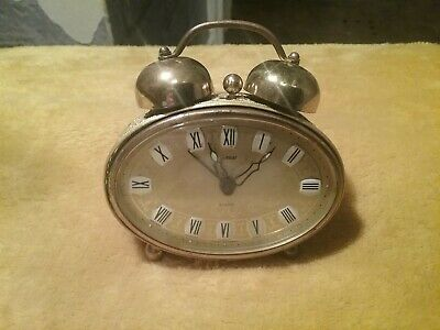 goldbuhl wind up alarm clock made in west Germany vintage winder is stuck