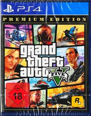 Grand Theft Auto V PREMIUM EDITION - PlayStation 4 / PS4 Neu & OVP - Dt. Version