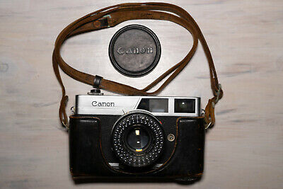 CANON CANONET LENS SE 45mm 1:1.9 WITH LEATHER CASE & STRAP