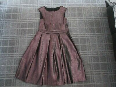 NEXT-girls dress age 7-8-9 Christmas party FORMAL SPECIAL OCCASION SKATER GOLD
