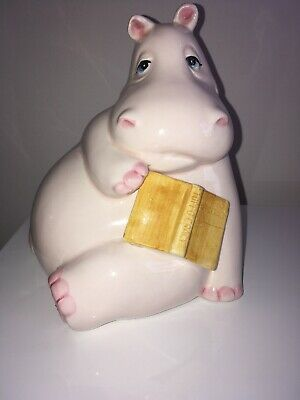 FITZ AND FLOYD, Japan, Pink Hippo Book End, Super Cute!