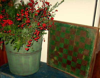 Excellent Antique Gameboard Rare Old Red Green Paint Best Form W/ Frame Aafa Nr
