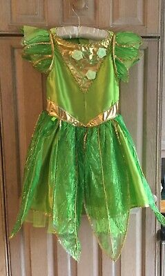 Girls Tinkerbell Dress & Separate Wings Age 7/8