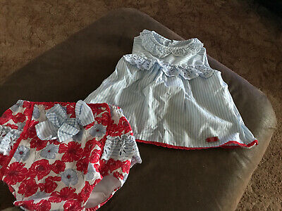 Dolce Petit Spanish Dress Age And Matching Pants 24 Months /2 Years