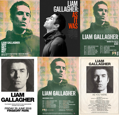 LIAM GALLAGHER Album & SinglePosters A5, A4, A3, A2 High Quality + Glossy 200gsm