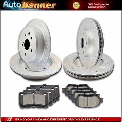 Front Disc Rotors /& Ceramic Brake Pads For Lexus GS300 IS250 IS250C