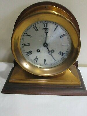 Chelsea Clock Commander ca. 1912 runs and Serial #s Match RED BRASS