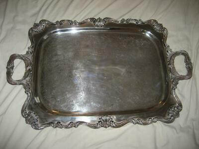 Beautiful Antique W & S Blackinton Victoria 130 Silver Plated Large Footed Tray