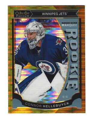 2015-16 o pee chee Platinum CONNOR HELLEBUYCK Seismic Gold Marquee Rookie #27/50
