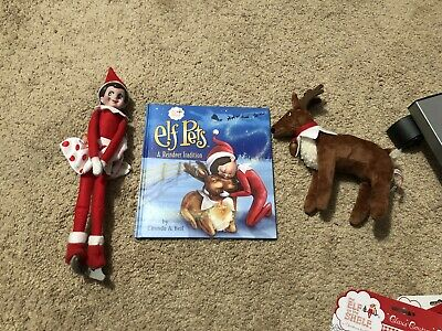 Lot Of Elf On The Shelf - Elf, Reindeer, Book And Clothes!