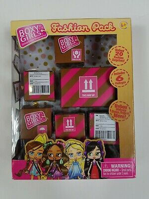 Boxy Girls Fashion Pack 6 Surprise Blind Boxes Makeup Shoes Bags & More