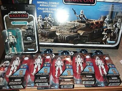 STAR WARS sealed VINTAGE COLLECTION ROGUE ONE ASSAULT TANK STORMTROOPERS LOT