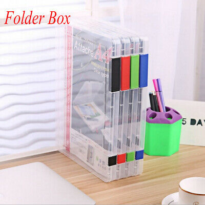 Transparent  Office Necessaries Document Box File Folder Paper Storage Plastic