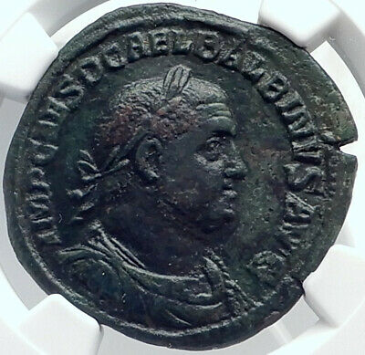 BALBINUS Authentic Ancient 238AD Rome Sestertius VERY RARE Roman Coin NGC i81777