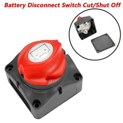 Black&Red Battery Disconnect Switch Cut Shut Off Switch For RV Camper Marine ATV
