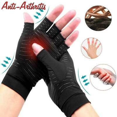 Copper Arthritis Gloves Compression Carpal Tunnel Swollen Hands Pain Relief A27