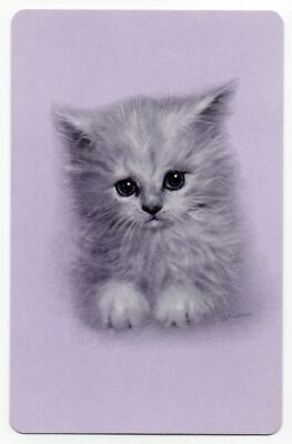 CATS vintage Playing cards swap cards 1970's  GIORDANO ARTIST purple