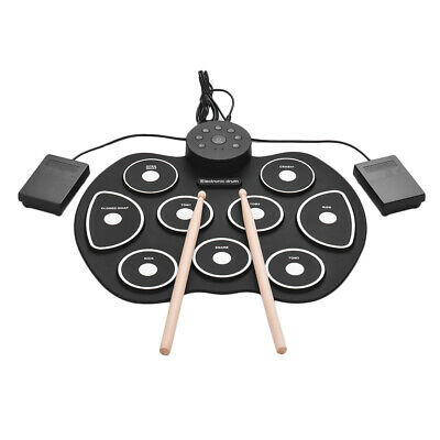 Compact Size USB Roll-Up Silicon Drum Set Digital Electronic Drum Kit 9 M9V7