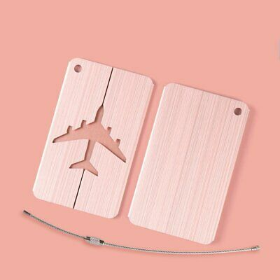 Luggage Tag Metal Hollow Travel Tag Suitcase Boarding Checked Card Id Tags 081