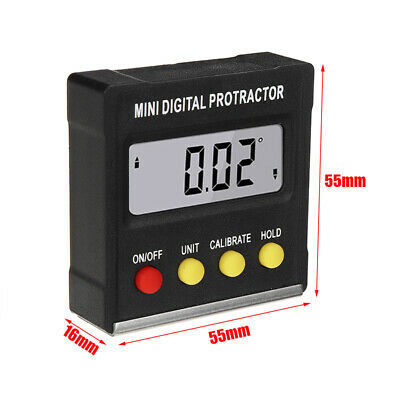Magnetic Digital Inclinometer Level Angle Finder Protractor Bevel Gauge 4*90°