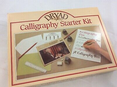 Dryad Calligraphy Starter Set with Additional Pens Nibs & Example Fonts